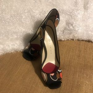 "Martinez Valero ""Whisper"" Open-Toe Pumps - Sz 7.5"